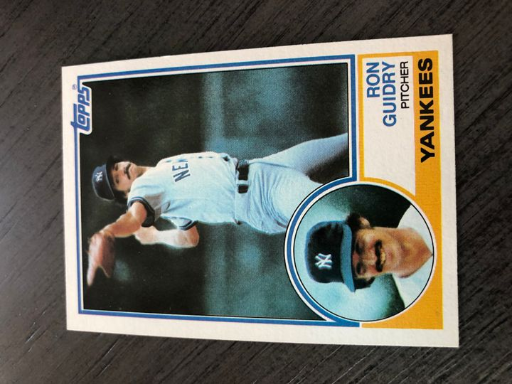 1983 TOPPS RON GUIDRY 440 Item Image