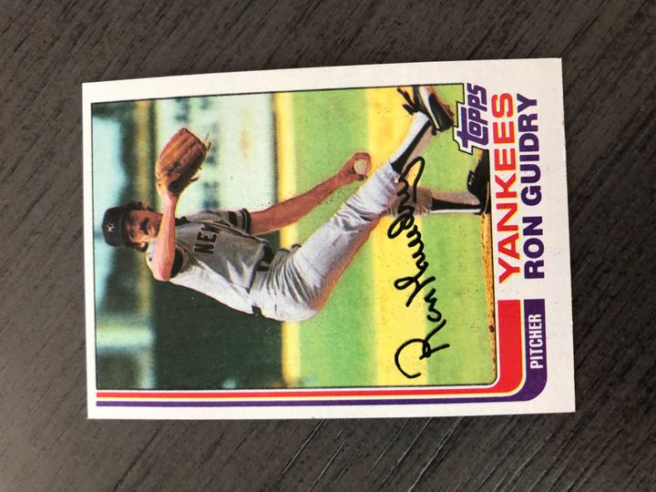 1982 TOPPS RON GUIDRY 9 Item Image